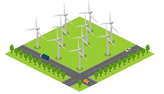 Area - Wind Turbines