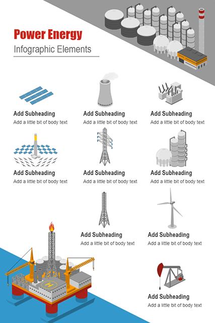 Power Energy Infographic Elements
