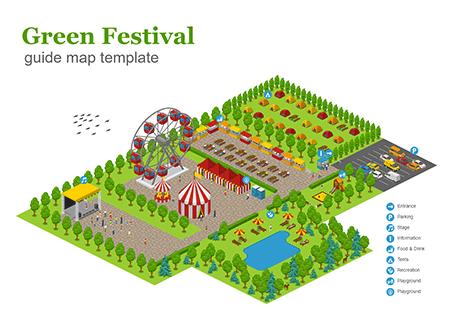 Green Festival Guide Map
