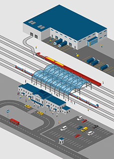 Railway Station Directional Map