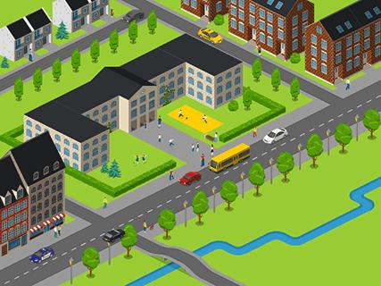School on Map