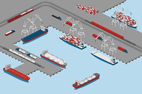 Cargo Port Illustration