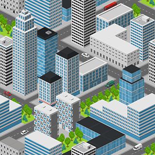 City Seamless Background