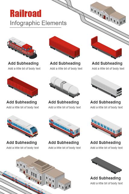 Railroad Infographic Elements