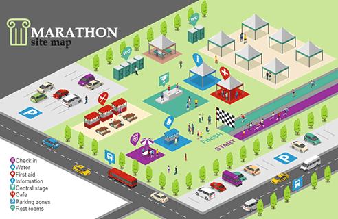 Marathon Site Map Detailed