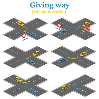 Giving way - left hand