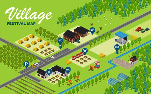Village Festival Map
